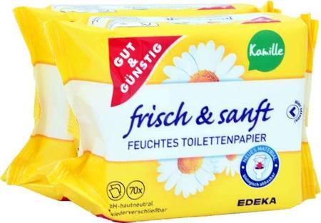G&G Nawilżony Papier Toaletowy Rumianek 2-pack