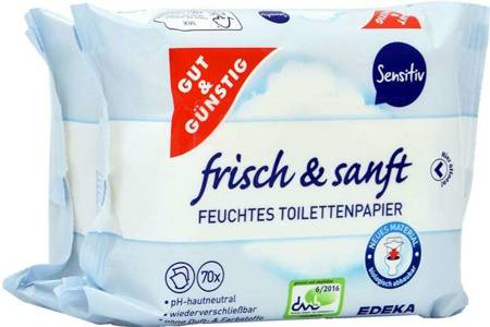 G&G Nawilżony Papier Toaletowy Sensitive 2-pack